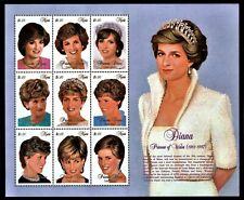 Nevis SC 1030 NH Souvenir Sheet of 1997 - Princess Diana