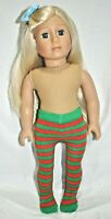 """Fits American Girl Doll Our Generation Journey  18"""" Dolls Clothes Xmas Tights"""