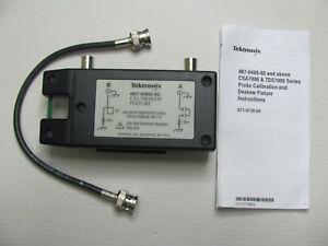 Tektronix 067-0405-02 Probe Calibration and Deskew Fixture + CABLE 012-0208-00