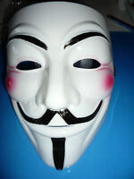 Anonymous v Pour Vendetta Guy Halloween Déguisement Robe creme visage masque à Capuche Cape