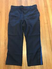 Horace Small Navy Blue Uniform Pants Trousers VTG USA MADE TUFFY LASTIK 36X27