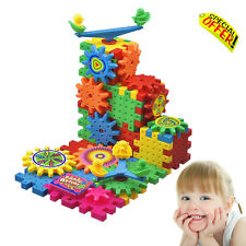 Sensory Toys Learning Puzzle Spinning Gears Builder Autism Kids Construction Set