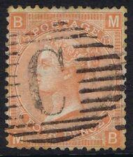 British Levant 1865 SG93 4d Dull Vermilion Pl 13 MB Used in Constantinople