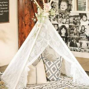 Lace Teepee Tent  for Kids Children Castle Wedding Party Decor Indoor Outdoor