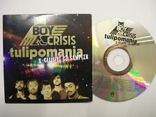BOY CRISIS Tulipomania X-Clusive Sampler – 2009 UK CD Promo Card Sleeve Pop Rock
