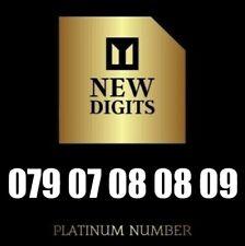 GOLD VIP PREMIUM NEW PLATINUM MOBILE PHONE NUMBER SIM CARD 07 08 08 09