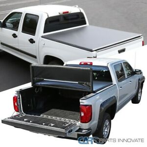 For 94-03 GMC S15 Sonoma Chevy S10 6' Short Bed Black Trifold Tonneau Cover