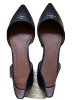 Coach Pointed Toe Leather d'Orsay Flat New No Box Size 8.5 8.5