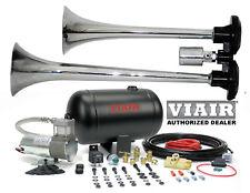 Loud Dual Trumpet Air Horn Kit VIAIR 98c 1 Gallon  Best Buy for Car Truck RV UTV