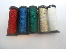 Kreinik Fine Braid #8 Assorted Colour Grab bag 5 spools