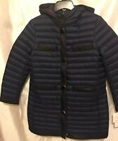 Kate Spade Womens Packable Down Jacket Ic Navy/Black Size Large