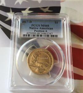 2017-D PCGS MS68 Native American Sacagawea Dollar Position A Pop 1/8