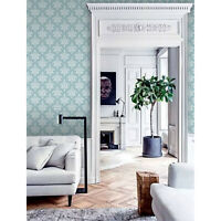 Distressed Damask Wallpaper SD36155 Victorian green classic prepasted