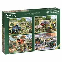 Falcon de luxe Seasons on The Farm Jigsaw Puzzles in One Box 4 x 1000-Piece