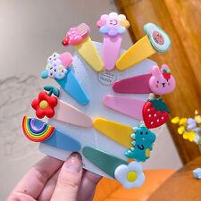 2 Pcs/Set Children Cartoon Fresh Fruit Flower Ornament Hair Clips Girls