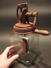 Antique Vintage Style Cast Iron #20 Dazey Butter Churn w Glass SIGNED