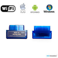 Super Mini ELM327 WiFi OBD2 Car Diagnostics Scanner Scan Tool - Blue