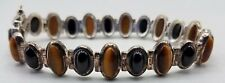 925 Tiger Eye/ Onyx Bracelet TE680