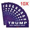 10pcs 2020 Donald Trump for President Make America Great Again Bumper Stickers