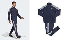 new adidas TEAM SPORTS TRACK SUIT SET navy blue S M XL 2XL Jacket Pant tracksuit