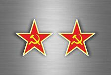 2x sticker airplane urss ussr ccp soviet flag russia stat red spetsnaz aircraft