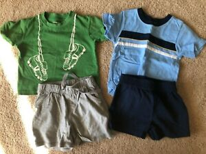 GYMBOREE GARANIMALS ~ Lot of 2 Toddler Boy Summer Outfits ~ Size 12 18 months