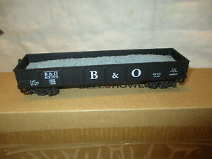 "Vintage  HO scale 52' gondola with gravel load ""B&O"""