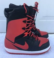 Nike SB Vapen Snowboarding Boots Black Red Bred 447125-004 Men's Size 10.5
