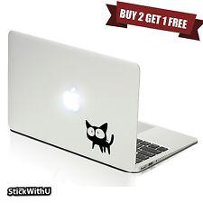 Macbook Air Pro Vinyl Skin Sticker Decal Cute Anime Cartoon Black Cat FLCL m961