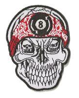 Patch écusson patche tête de mort 8 ball Skull thermocollant brodé