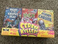 CEREAL KILLERS SERIES 1 NEW 3 BOX PACK SKETCH CARDS,STICKERS wacky packages NIB