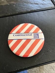 VINTAGE CONTINENTAL AIRLINES UNACCOMPANIED MINOR PIN BUTTON