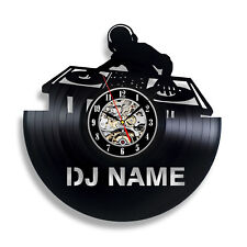 DJ Gift Wall Decor Vinyl Record Clock Art Home Design Music
