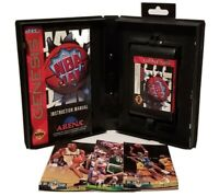 AUTHENTIC TESTED SEGA GENESIS - NBA JAM GAME ~ CASE ~ MANUAL ~ NBA CARDS