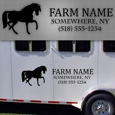 "Horse trailer lettering, Horse trailer, Farm Decals, Farm Truck name - 48"" x 16"""