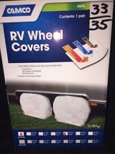 "RV Wheel Covers 2 Pack Camco Arctic White 33"" - 35""   PT # 45324"