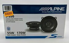 """New listing New Alpine S-S50 5.25"""" Coaxial 2-Way Speaker System Pair -Sb1448"""