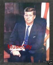 """President John F Kennedy 12""""x16"""" Lithograph Poster by Louis Fabian Bachrach 1960"""