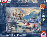 Thomas Kinkade Beauty and the Beast Winter 1000 Piece Schmidt Jigsaw Puzzle