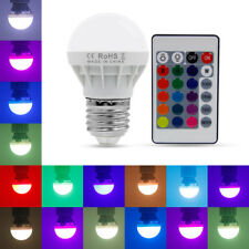 Hot 3W 16 Color Change E27 LED RGB Light Magic Bulb Globe Night Beautification