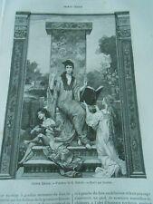 Sainte Cécile d'après painture de G. Dubufe Gravure Print 1893