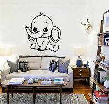 Wall Stickers Vinyl Decal Baby Elephant Animal Kids Room Nursery (ig647)
