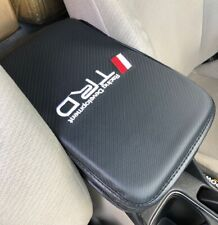 JDM TRD Stitches Carbon Leather Car Center Console Armrest Cushion Mat Pad Cover