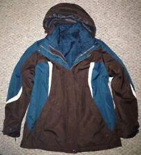 St Johns Bay 4-in-1 Systems Hooded Winter Coat Water Resistant Womens Size M NWT