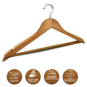 Kleiderbügel Holzbügel  Kleiderbügel Holz mit Steg Hosenbügel Garderobenbügel