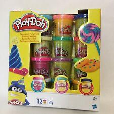 PLAY DOH COULEURS FESTIVES CONFETTIS & PAILLETTES-12 pots de pâte à modeler