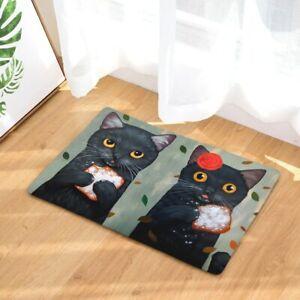 Doormat Carpets Couple Cats Print Mats Floor Kitchen Bathroom Rugs 40X60