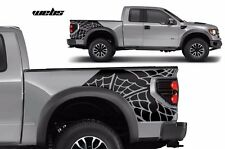 Vinyl Rear Decal WEBS Wrap Kit for Ford F-150 Raptor SVT 2010-2014 Truck BLACK