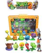 Set 30  FIGURAS PLANTAS Vs ZOMBIES  2 EA -   Kid Toys 10cm  BOX NOT Included