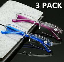 3 PACK  Reading glasses Ultralight for reader Women Men +1.0 to +4.0 Black/Clear
